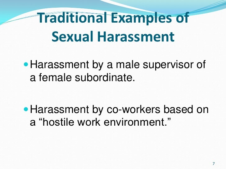 Types of sexual harassment in the workplace ppt