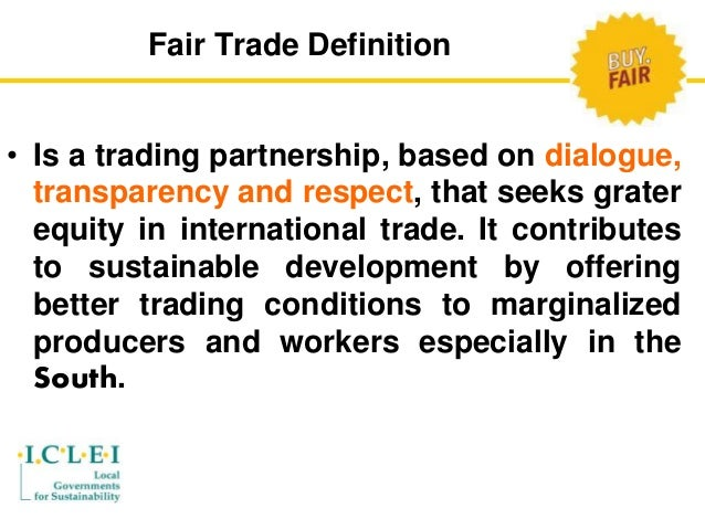 Trade Fair Stands Definition : Fair trade