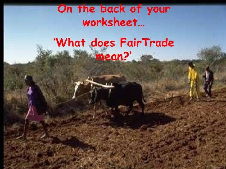 Fairtrade  Slide 3