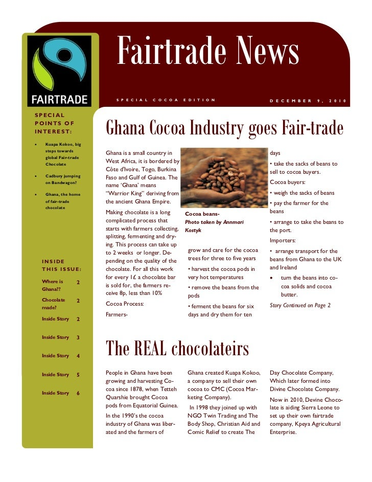 B U S I N E S S   N A M E                                        Fairtrade News                                        S P...