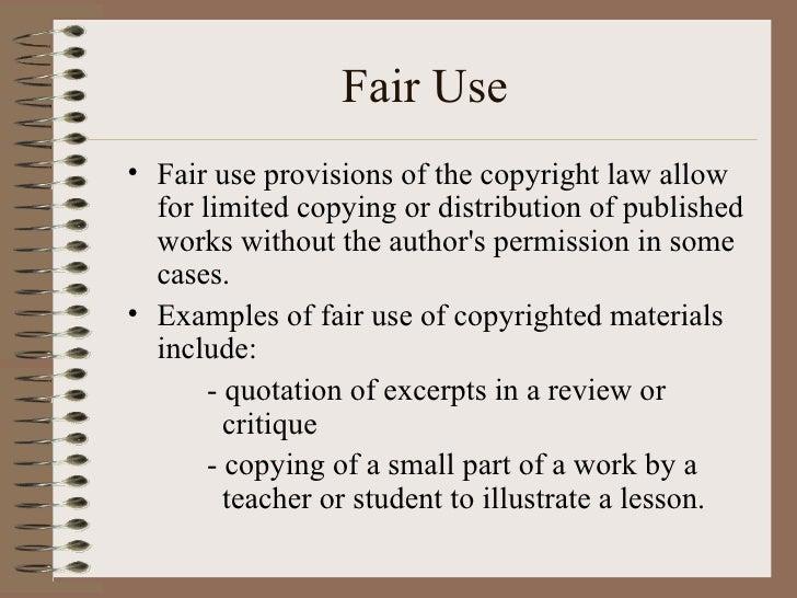 Copyrightplagiarismfair Use