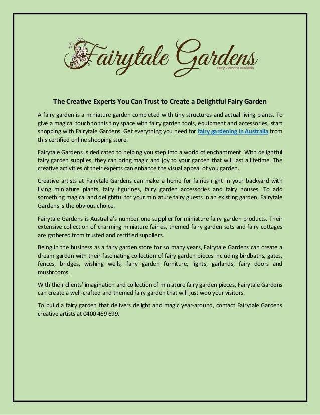 Fairy Gardening Australia - Fairytale Gardens