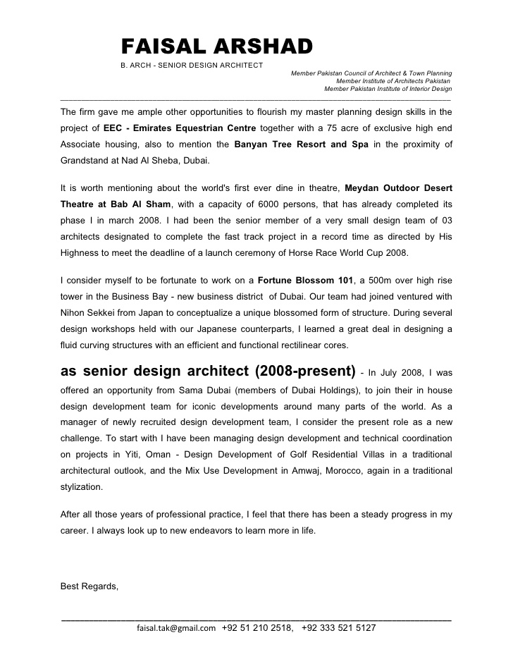 Junior Architect Cover Letter Ender Realtypark Co