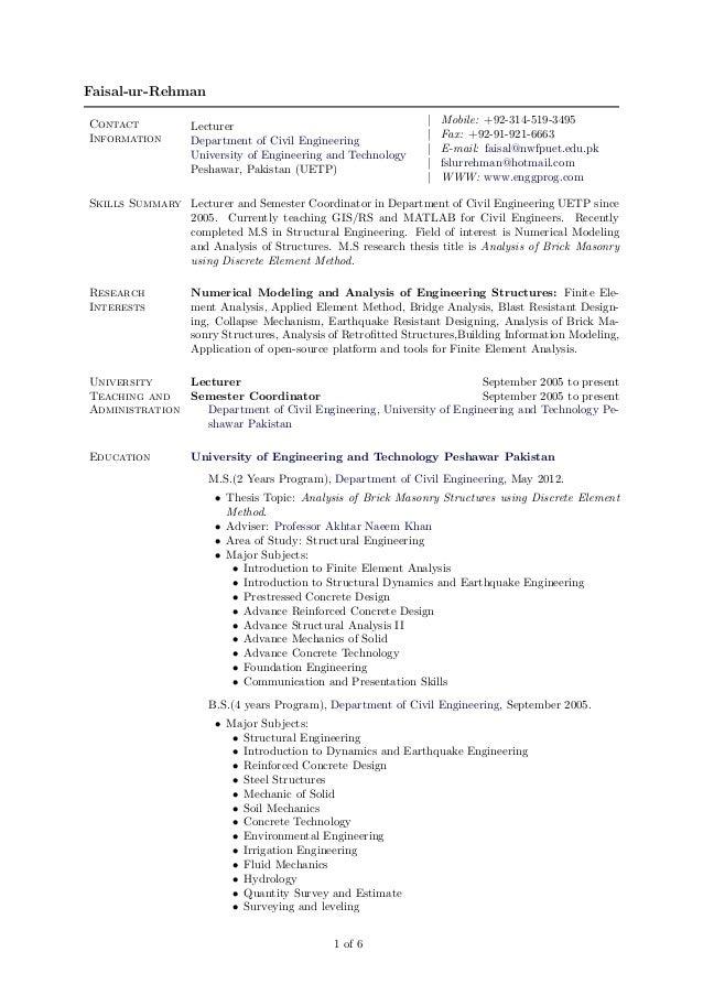 Faisal-ur-RehmanContact                                                        |   Mobile: +92-314-519-3495               ...