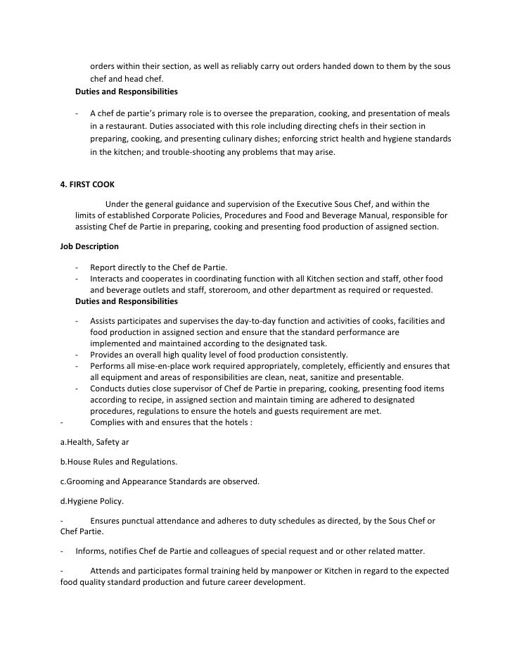 Chef Description. Executive Chef Resume Samples Chef Cover Letters