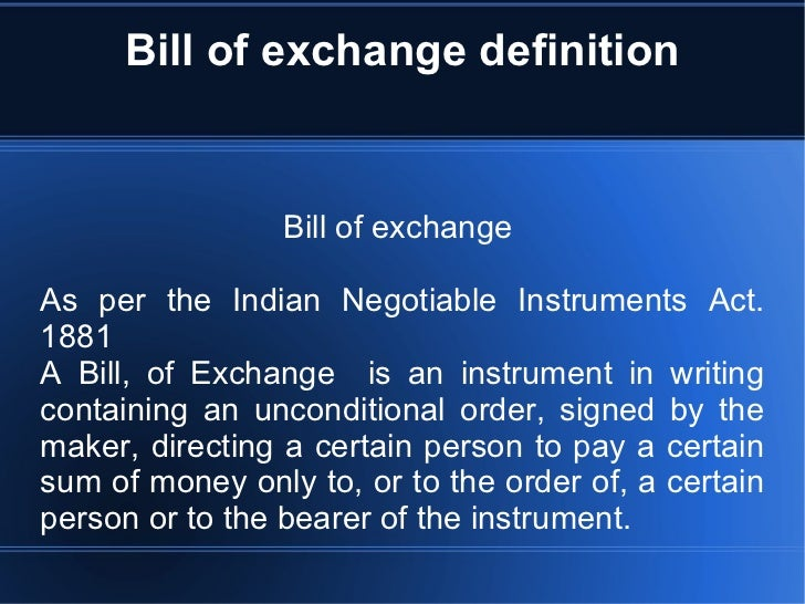 bill of exchange images