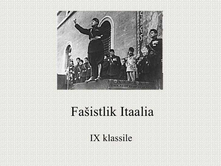 Fašistlik Itaalia IX klassile