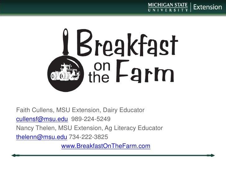 d6b5ae851 Breakfast On the Farm- Faith Cullens