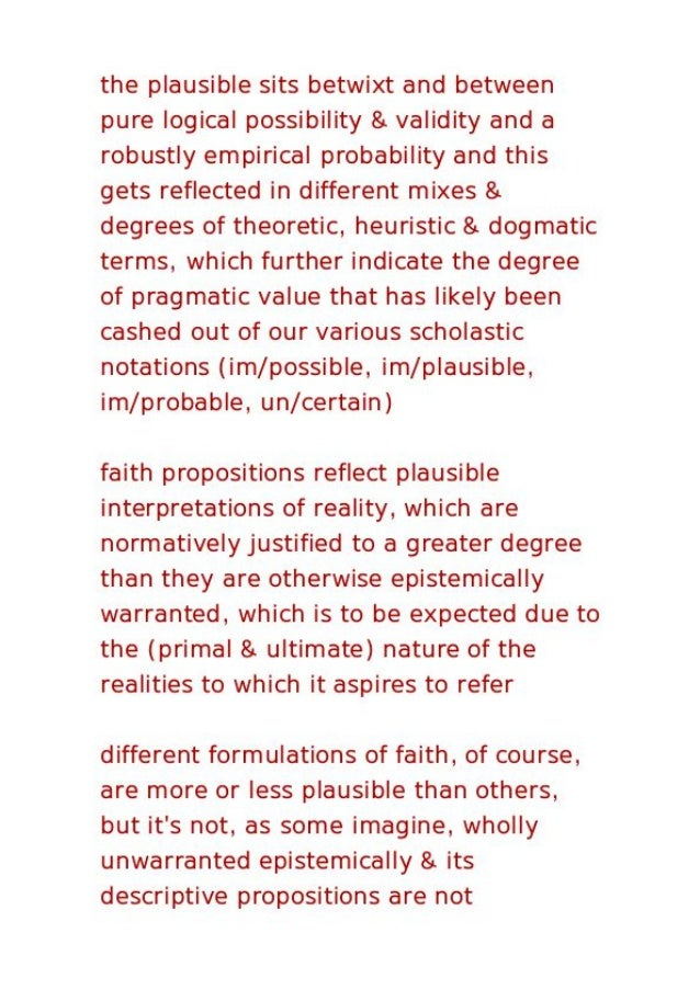 Faith between a naive realism and radical deconstructionism