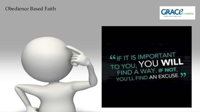 Obedience Based Faith