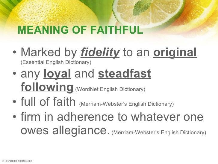 Faithful youth in the 21 st centuary