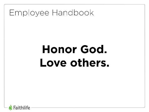 Faithlife Employee Handbook and Corporate Culture