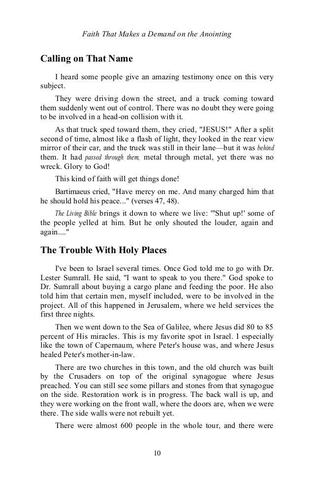 Faithmakesademandontheanointingbyeddufresne 131127153835 phpapp01 11 10 faith that makes a demand on the anointing fandeluxe Choice Image