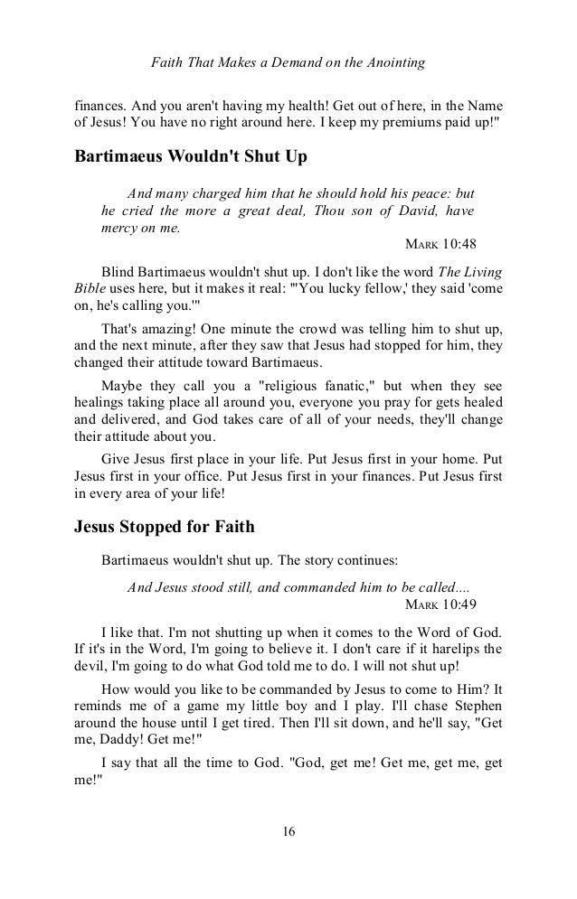 Faithmakesademandontheanointingbyeddufresne 131127153835 phpapp01 16 faith that makes a demand on the anointing fandeluxe Choice Image