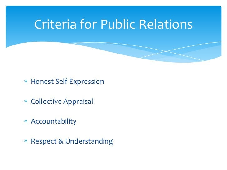 Honest Self-Expression<br />Collective Appraisal<br />Accountability <br />Respect & Understanding<br />Criteria for Publi...