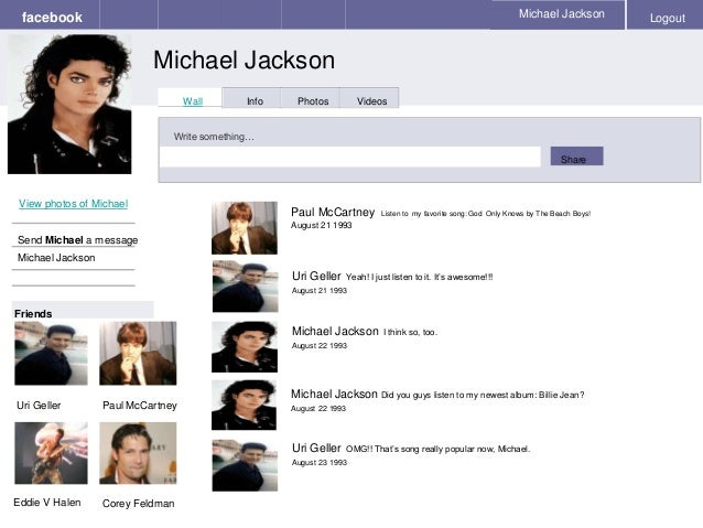 michael jackson 39 s facebook. Black Bedroom Furniture Sets. Home Design Ideas