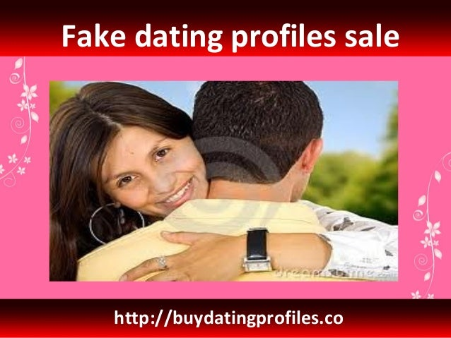 Dating seiten fake profile