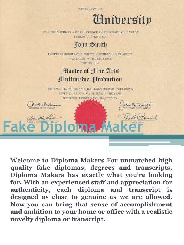 Can you make a fake diploma