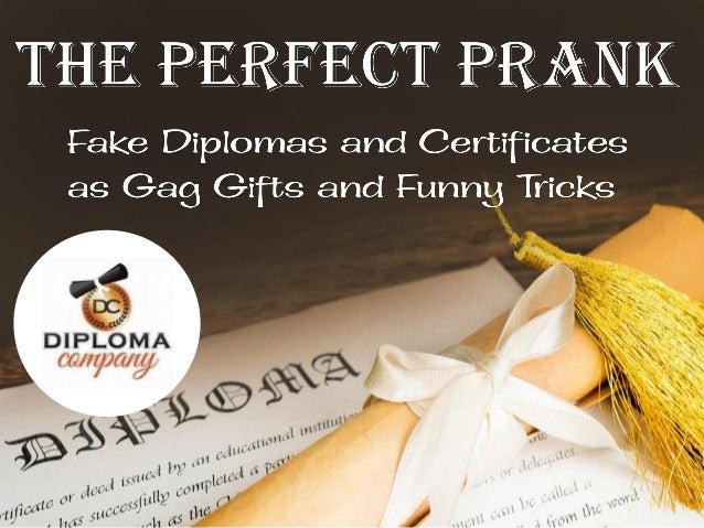 fake diplomas degrees and certificates make a fun gag gift
