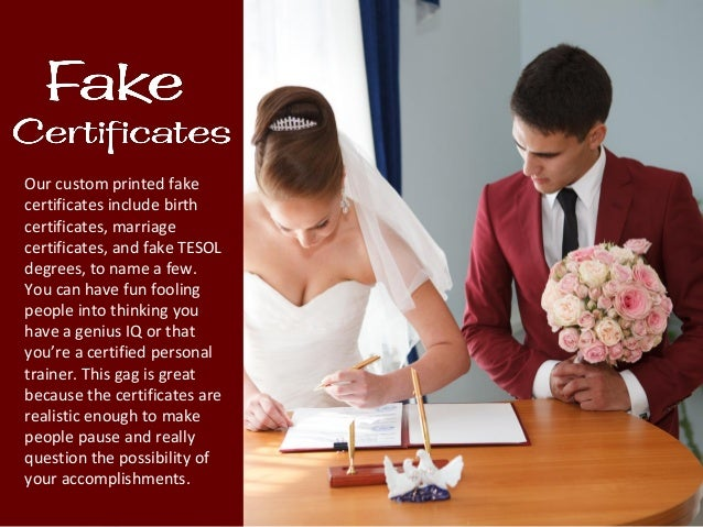 fake diplomas and certificates as gag gifts and funny tricks