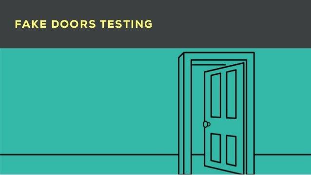 Fake doors and testing Slide 2