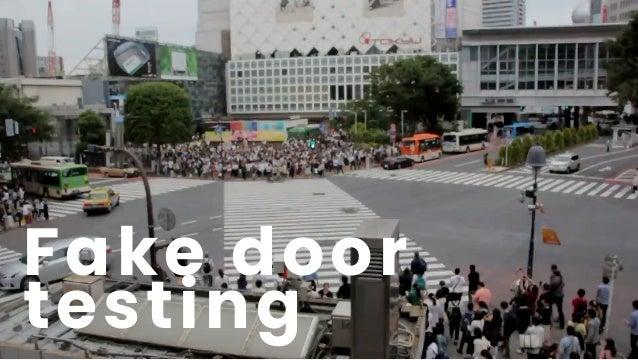 Fake door testing