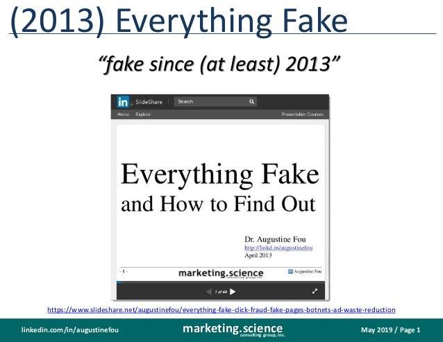 Fake Everything 2019 Update Slide 2