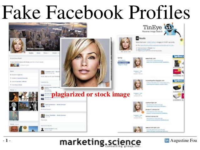 Augustine Fou- 1 - Fake Facebook Profiles plagiarized or stock image