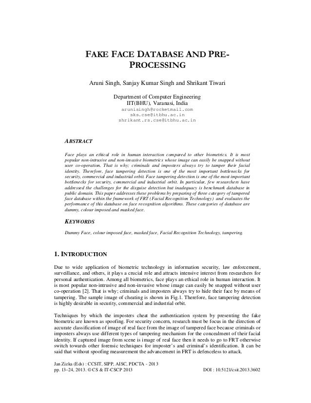 Jan Zizka (Eds) : CCSIT, SIPP, AISC, PDCTA - 2013 pp. 13–24, 2013. © CS & IT-CSCP 2013 DOI : 10.5121/csit.2013.3602 FAKE F...