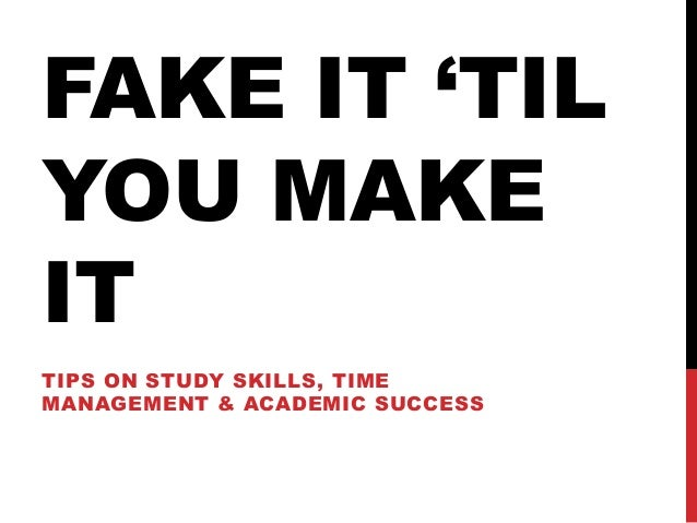 how to make time management for study