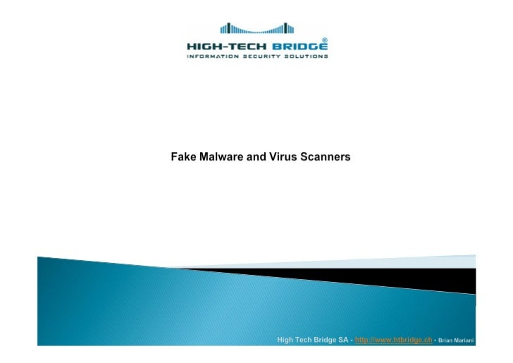 }   Fake malware and virus scanners}   What are their goals?}   Malware statistics}   How they look like?}   Tricks by sca...
