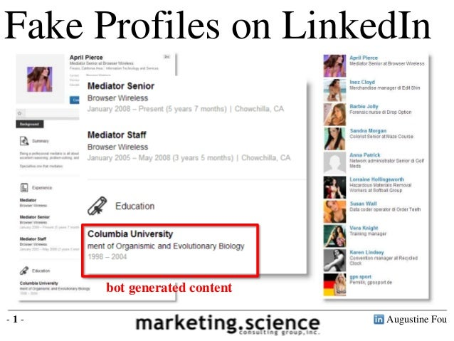 Augustine Fou- 1 - Fake Profiles on LinkedIn bot generated content