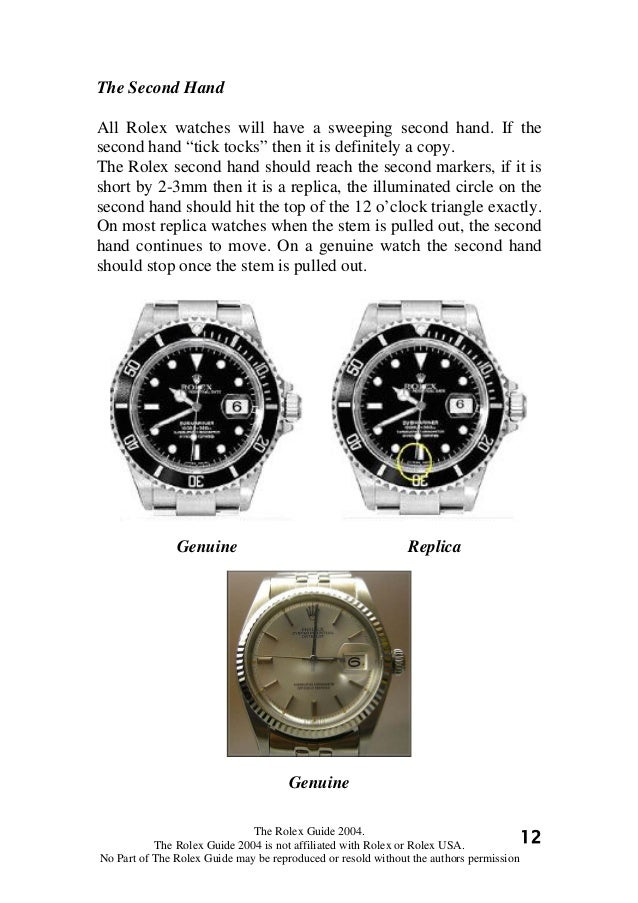 Do rolex tick tock