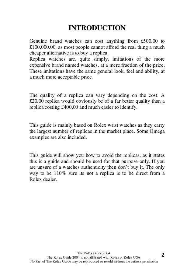Rolex Science: The Fake Signs (3) Slide 2