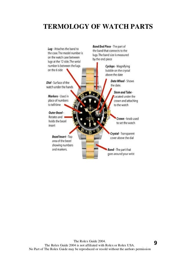 rolex science the fake signs 3 rh slideshare net Rolex 1560 Parts List rolex parts diagram materials