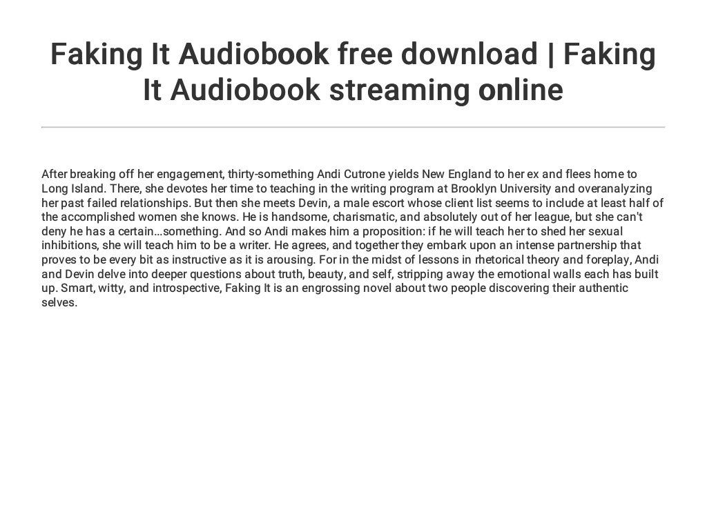 Faking It Audiobook free download   Faking It Audiobook