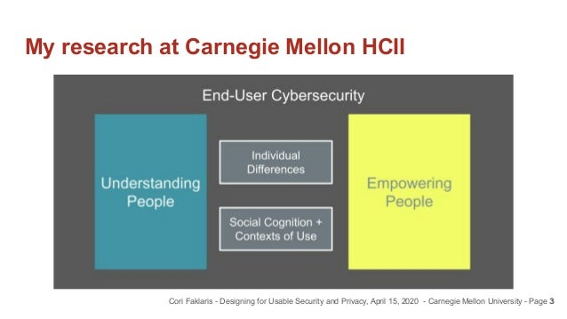 Designing for Usable Security and Privacy Slide 3