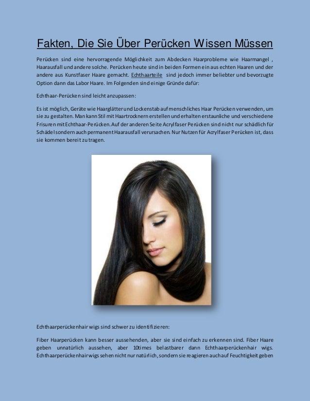 Fakten, Die Sie Über Perücken Wissen Müssen  Perücken sind eine hervorragende Möglichkeit zum Abdecken Haarprobleme wie Ha...