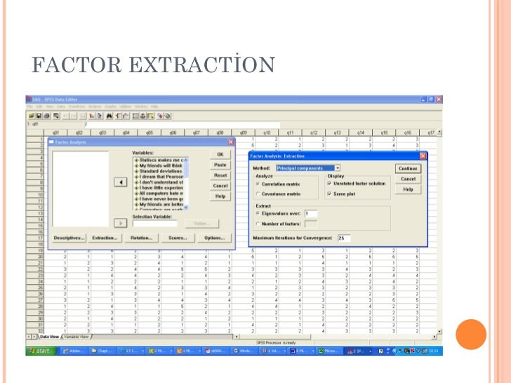 FACTOR EXTRACTİON