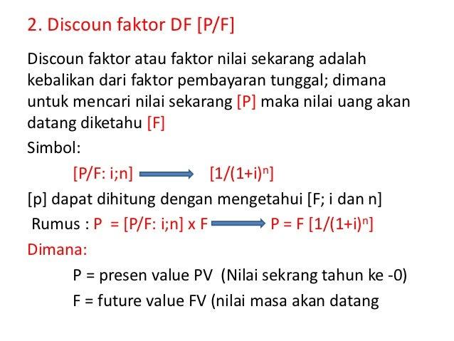 Faktor dan nilai uang