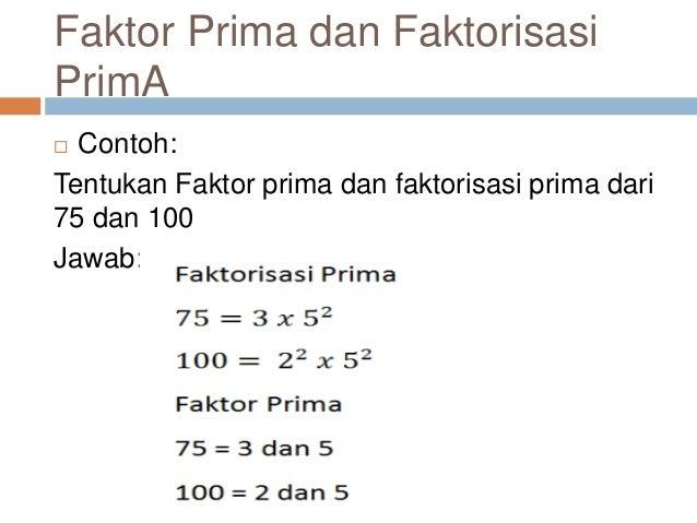 Faktorisasi prima fpb dan kpk