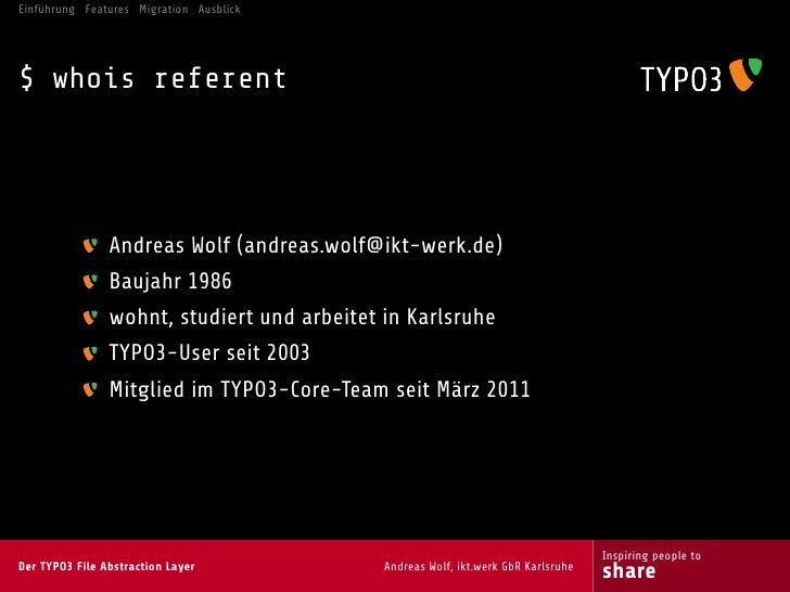 Der TYPO3 File Abstraction Layer Slide 3