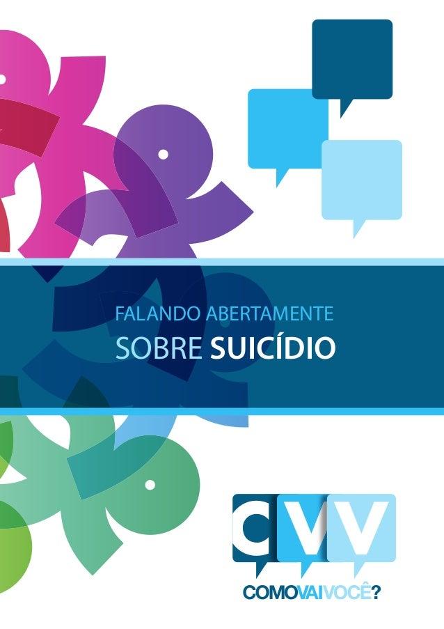 FALANDO ABERTAMENTE SOBRE SUICÍDIO