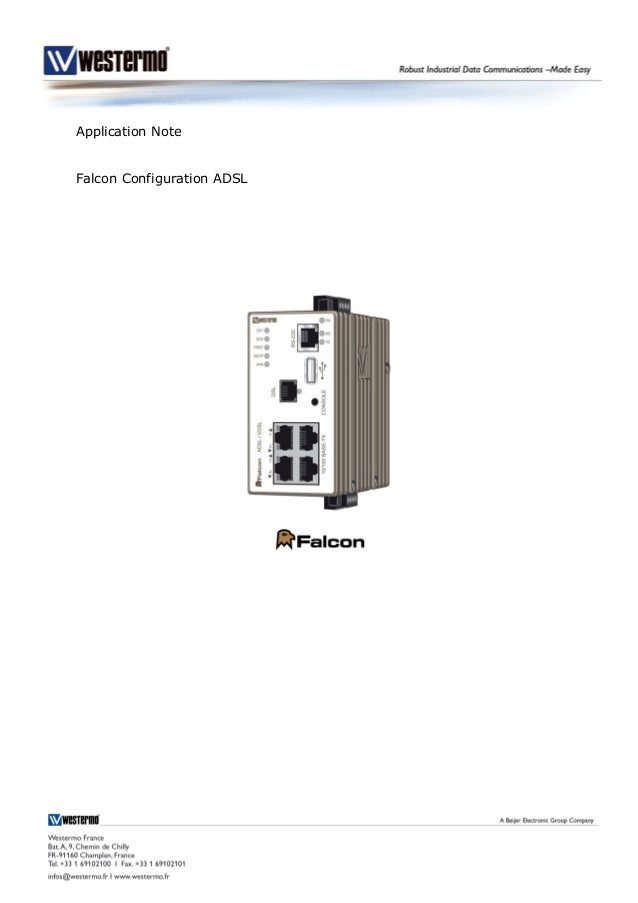Application Note Falcon Configuration ADSL