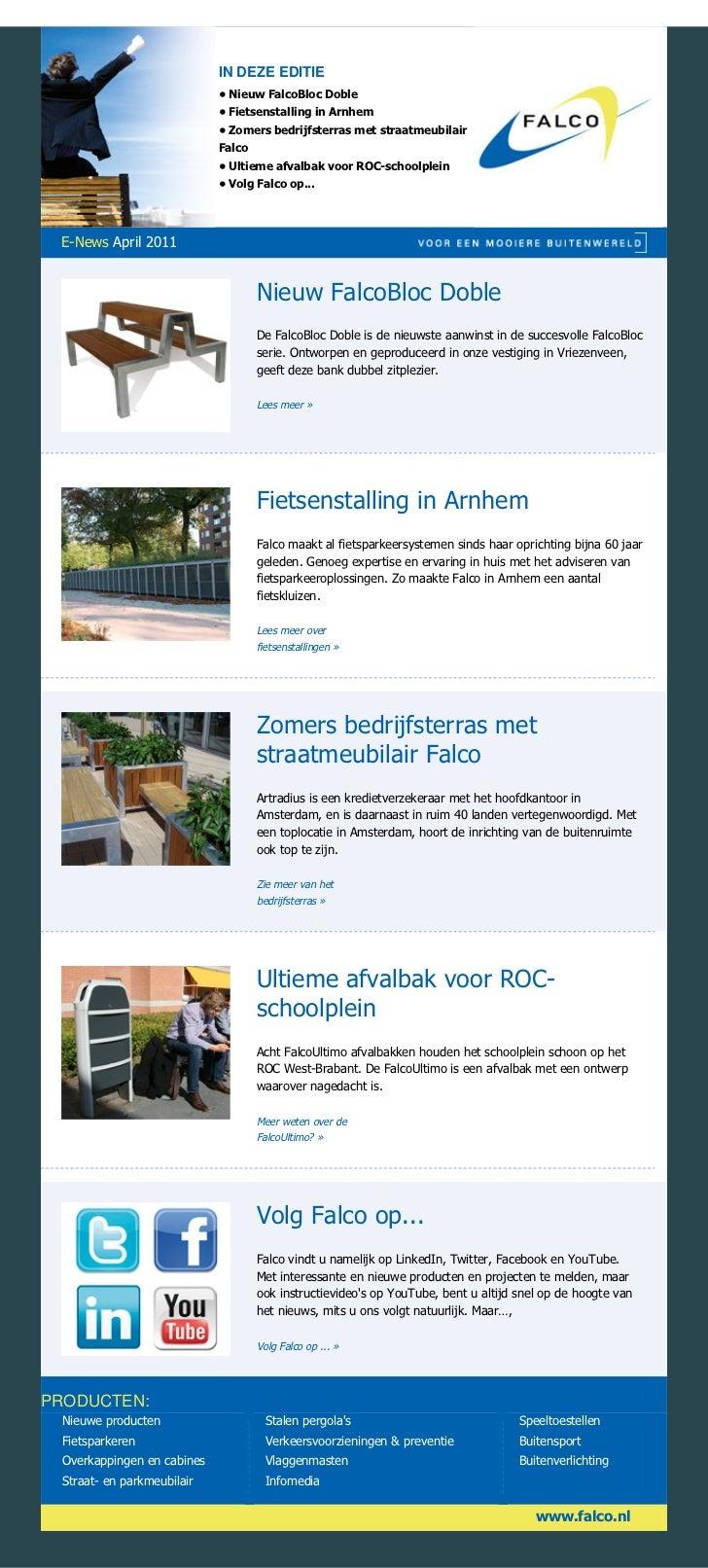 IN DEZE EDITIE                            • Nieuw FalcoBloc Doble                            • Fietsenstalling in Arnhem  ...
