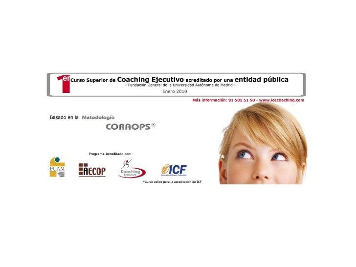 Curso Superior de Coaching Ejecutivo basado en metodología CORAOPS