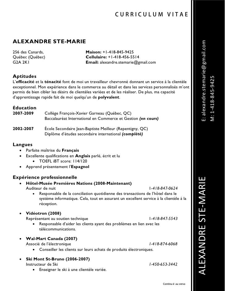 CURRICULUM VITAE    ALEXANDRE STE-MARIE                                                                                   ...
