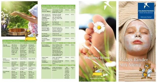 Preise Falky-Massagen und weitere Anwendungen                                                                        Massa...
