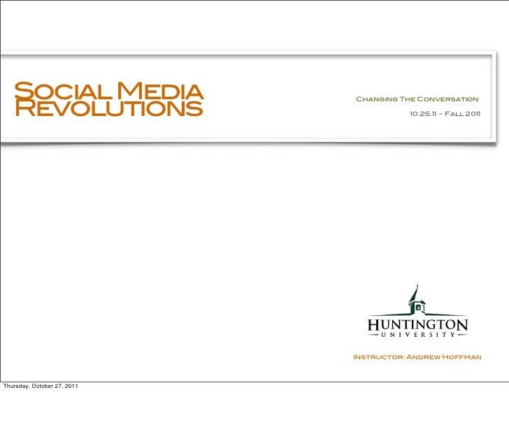 Social Media   Revolutions                             Changing The Conversation                                        10...