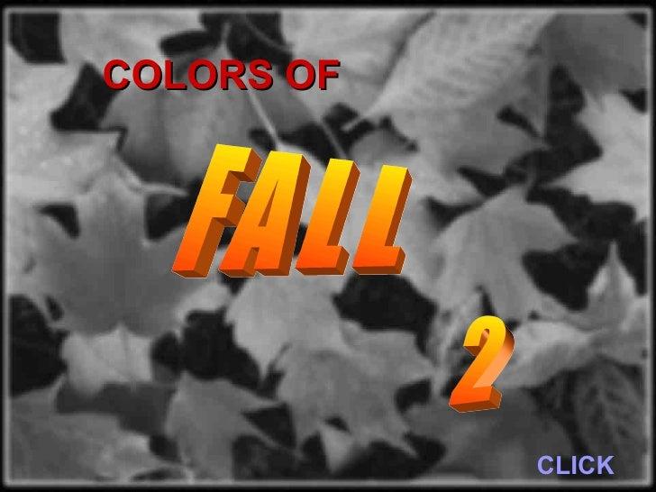 CLICK FALL COLORS OF 2